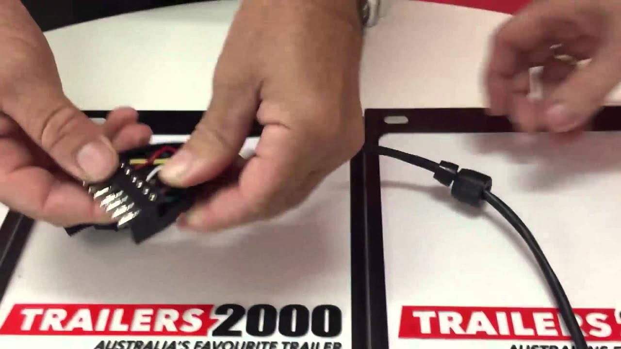 How To Wire A 7 Pin Flat Trailer Plug - Youtube - Boat Trailer Wiring Diagram Nz