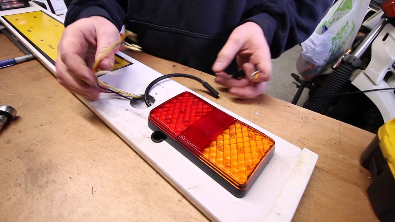 How To Wire Led Trailer Lights - Youtube - Wiring Led Trailer Lights Diagram