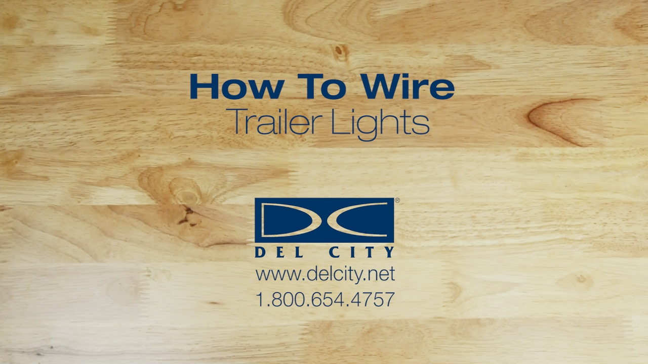 How To Wire Trailer Lights - Youtube - 7 Pin Trailer Connector Wiring Diagram