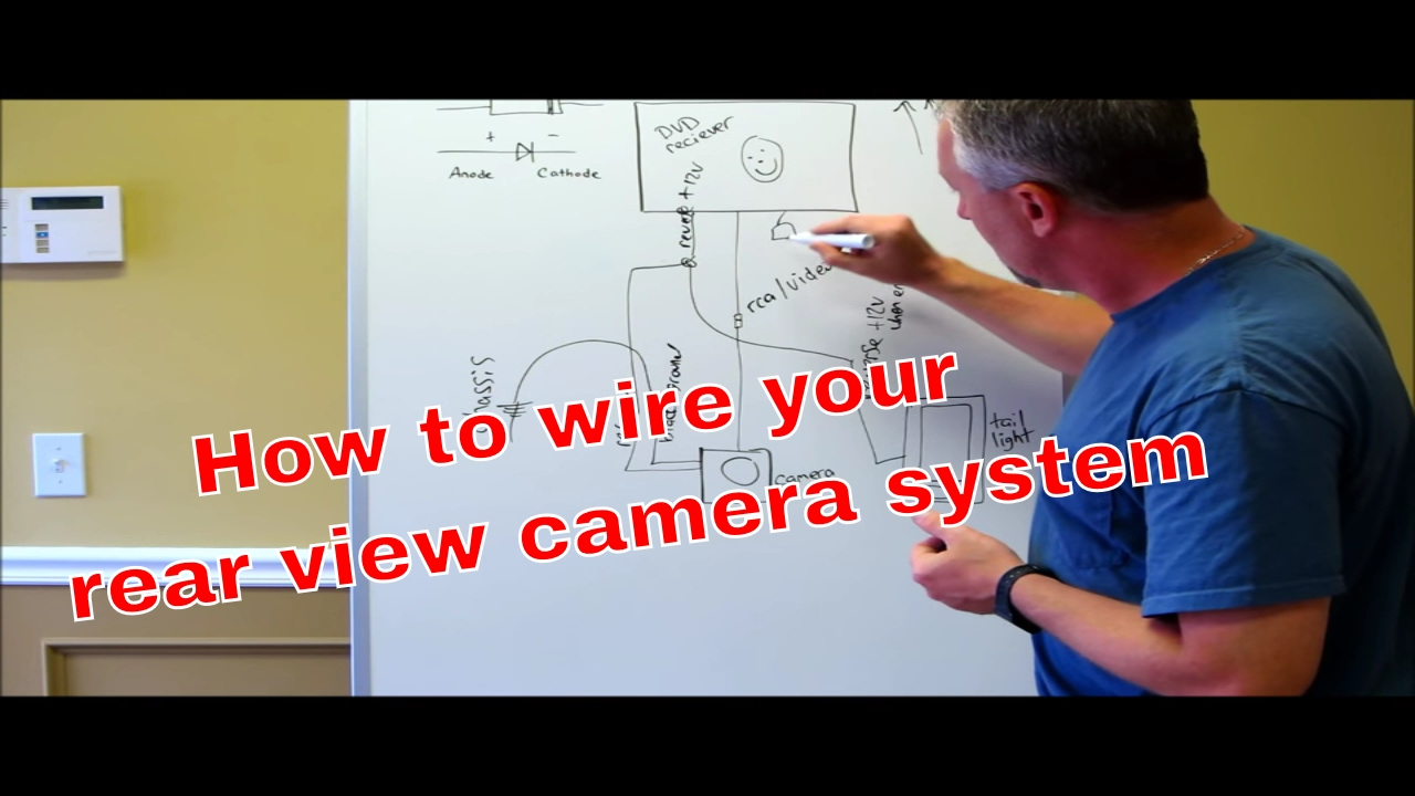 How To Wire Your Reverse Camera With A Switch - Youtube - Led Trailer Lights Wiring Diagram Australia