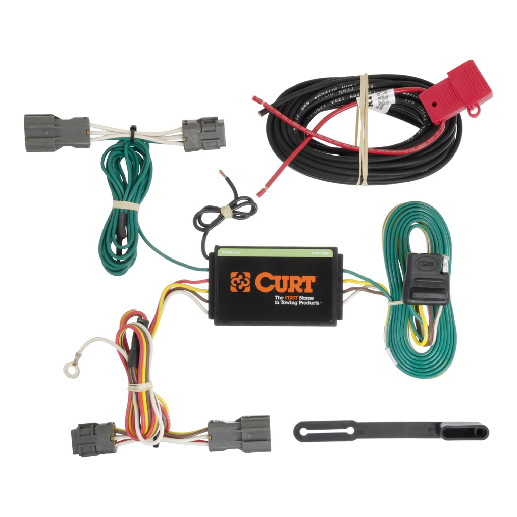 Hyundai Santa Fe 2013-2018 Wiring Kit Harness - Curt Mfg #56184 - Trailer Wiring Kit Diagram
