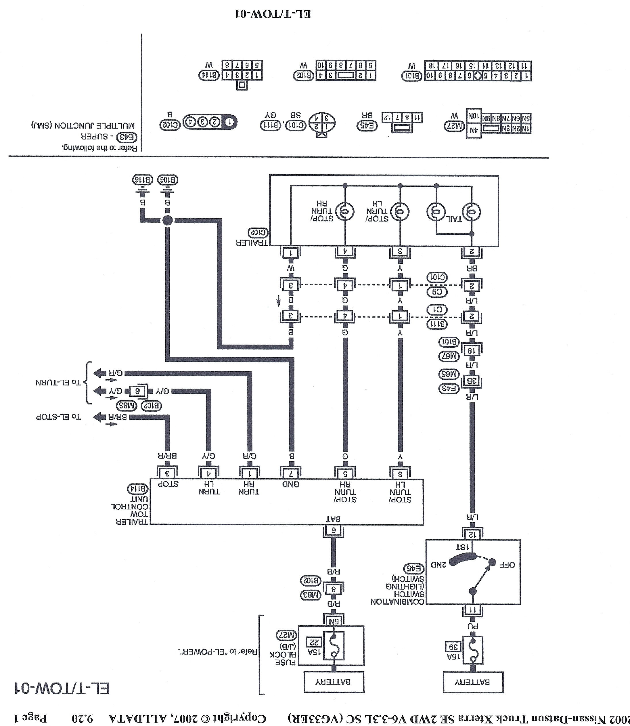 I Need To Hardwire A 4 Flat Trailer Wire Harness To My 2002 Nissan - Nissan Trailer Wiring Diagram