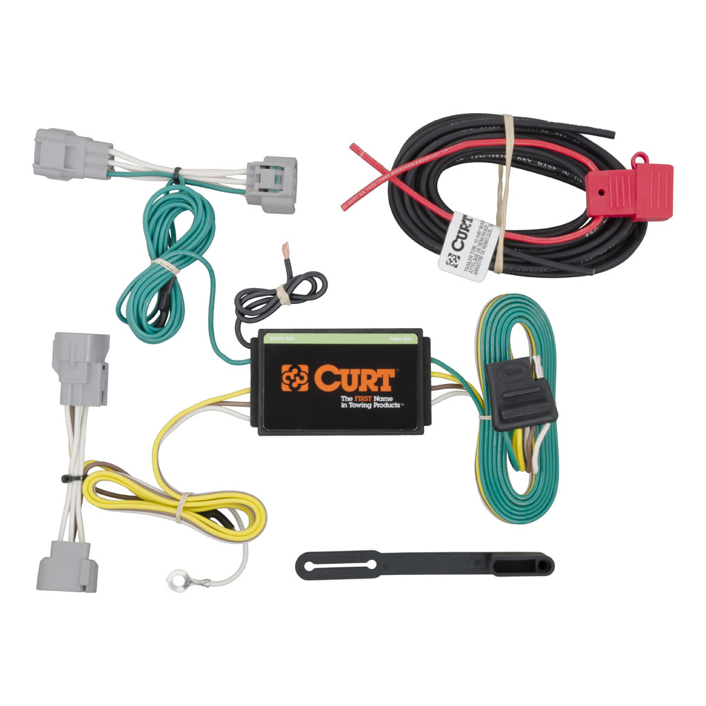 Jeep Cherokee 2014-2018 Wiring Kit Harness - Curt Mfg #56208 - Trailer Wiring Adapter Diagram