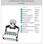Kt World First 12 Pin Flat Metal Trailer Plug & Socket | Kt Blog   Trailer Wiring Diagram 12 Pin