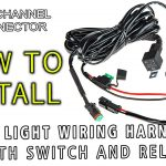 Led Light Wiring Harness With Switch And Relay Single Channel Dt - Trail Tech Trailer Wiring Diagram