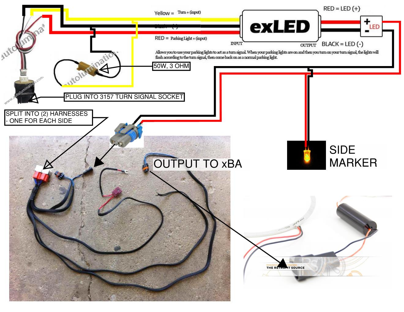 Led Turn Signal Lights Wiring Diagram | Wiring Diagram - 3 Wire Led Trailer Light Wiring Diagram