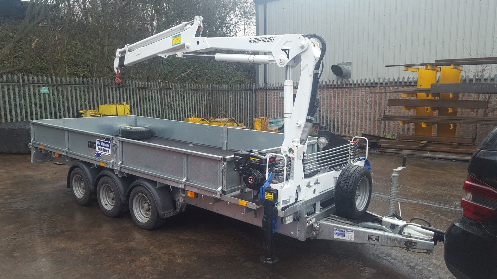 New Ifor Williams Trailer Fitted With 2-3 T/m Crane / Hiab - Ifor Williams Tipping Trailer Wiring Diagram
