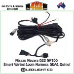 Nissan Navara D23 Np300 Smart Wiring Loom Harness Dual Output   Np300 Trailer Wiring Diagram
