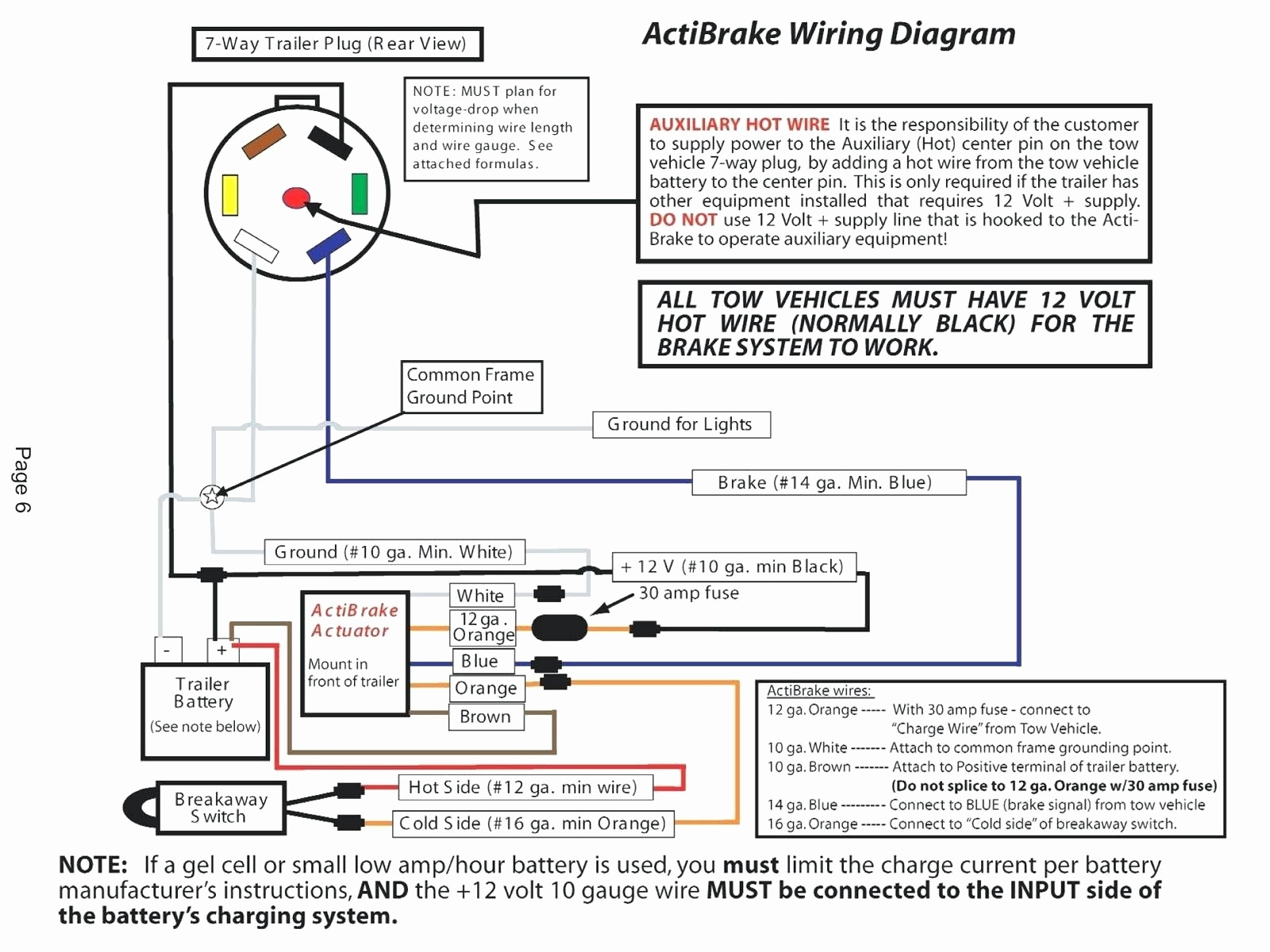 Pj Wiring Diagram 7 Wire | Manual E-Books - Trailer Breakaway Box Wiring Diagram