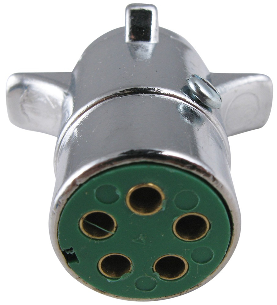 Pollak 5-Pole, Round Pin Trailer Wiring Connector - Chrome - Trailer - Mac Trailer Wiring Diagram