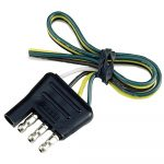 Reese Towpower 4 Way Flat Connector 74124   The Home Depot   6 Wire Trailer Plug Wiring Diagram