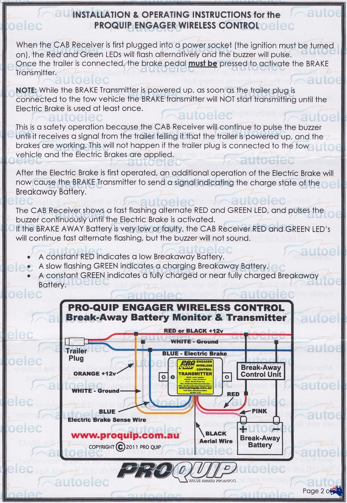 Remote Battery Monitor System 4 Trailer Break Away Breakaway Boat - Wiring Diagram For Trailer Lights Ireland