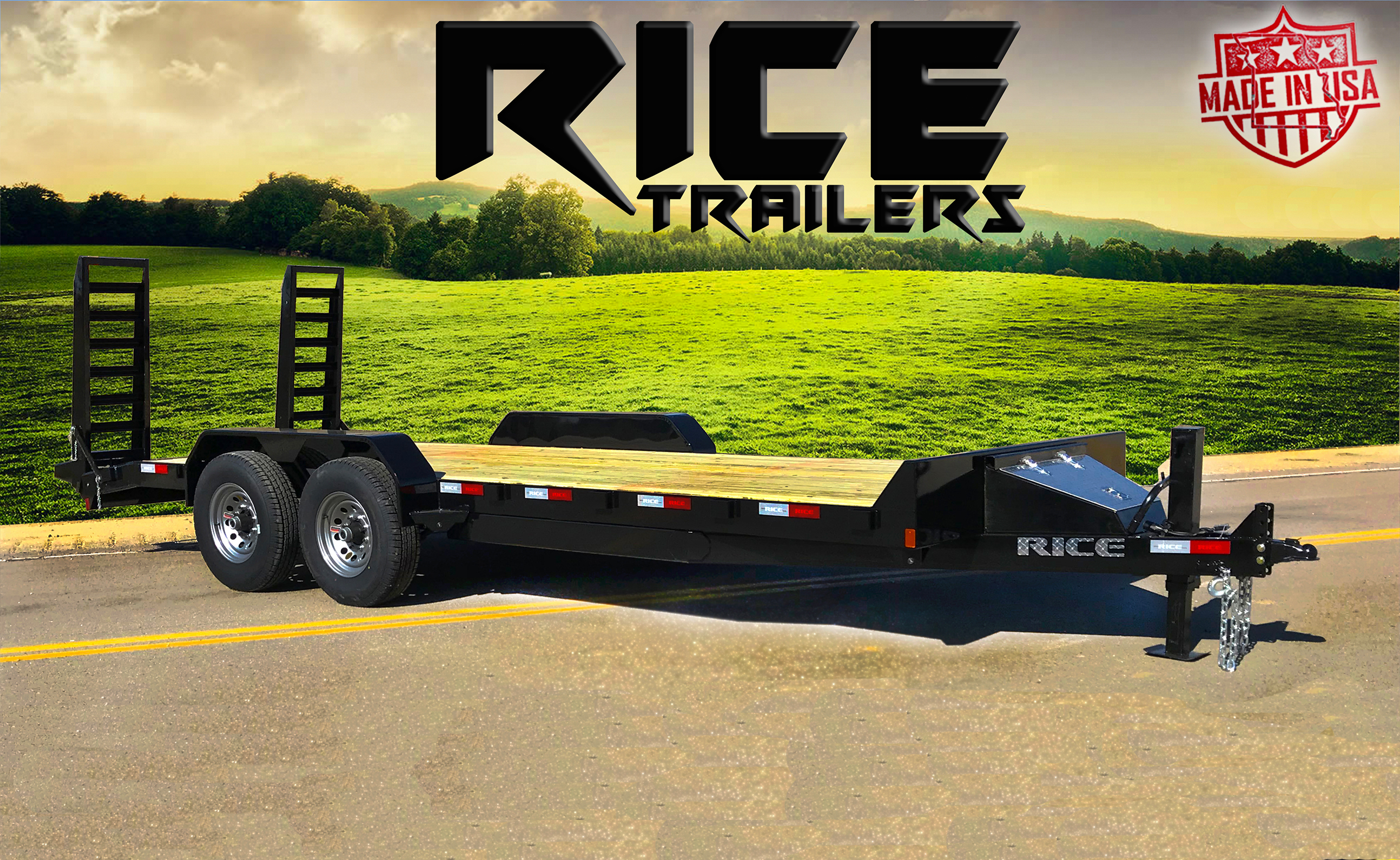 Rice Trailers Fully Powder Coated Built In Usa - Quality Cargo Trailer Wiring Diagram