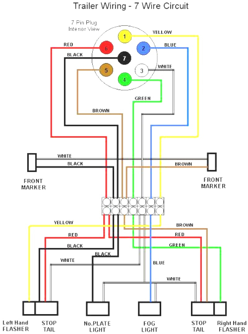 Semi Trailer Light Wiring Diagram - Motherwill - Trailer Lights Wiring Diagram