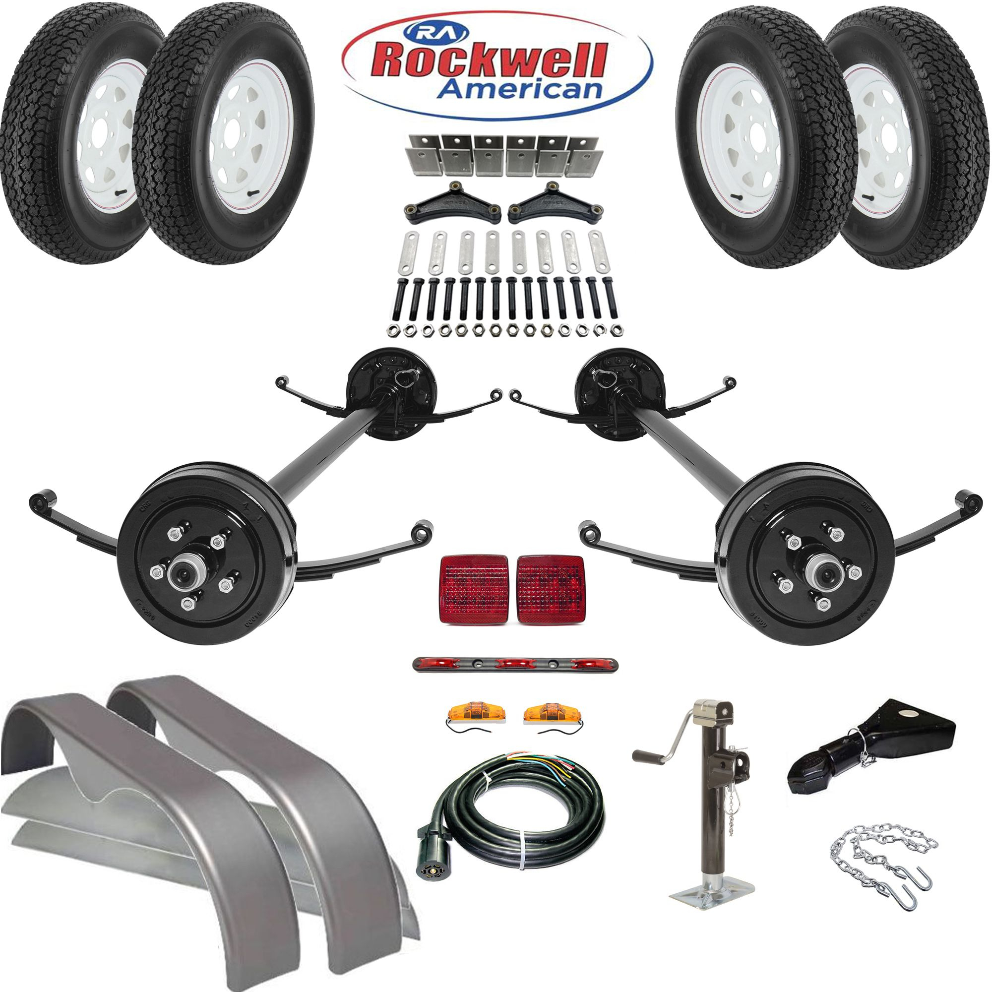 Tandem Brake Axle Trailer Parts Kit - 7,000 Lb Capacity | Utility - Hawke Dump Trailer Wiring Diagram
