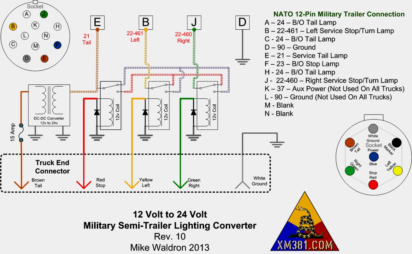 Semi Trailer Lights Wiring Diagram
