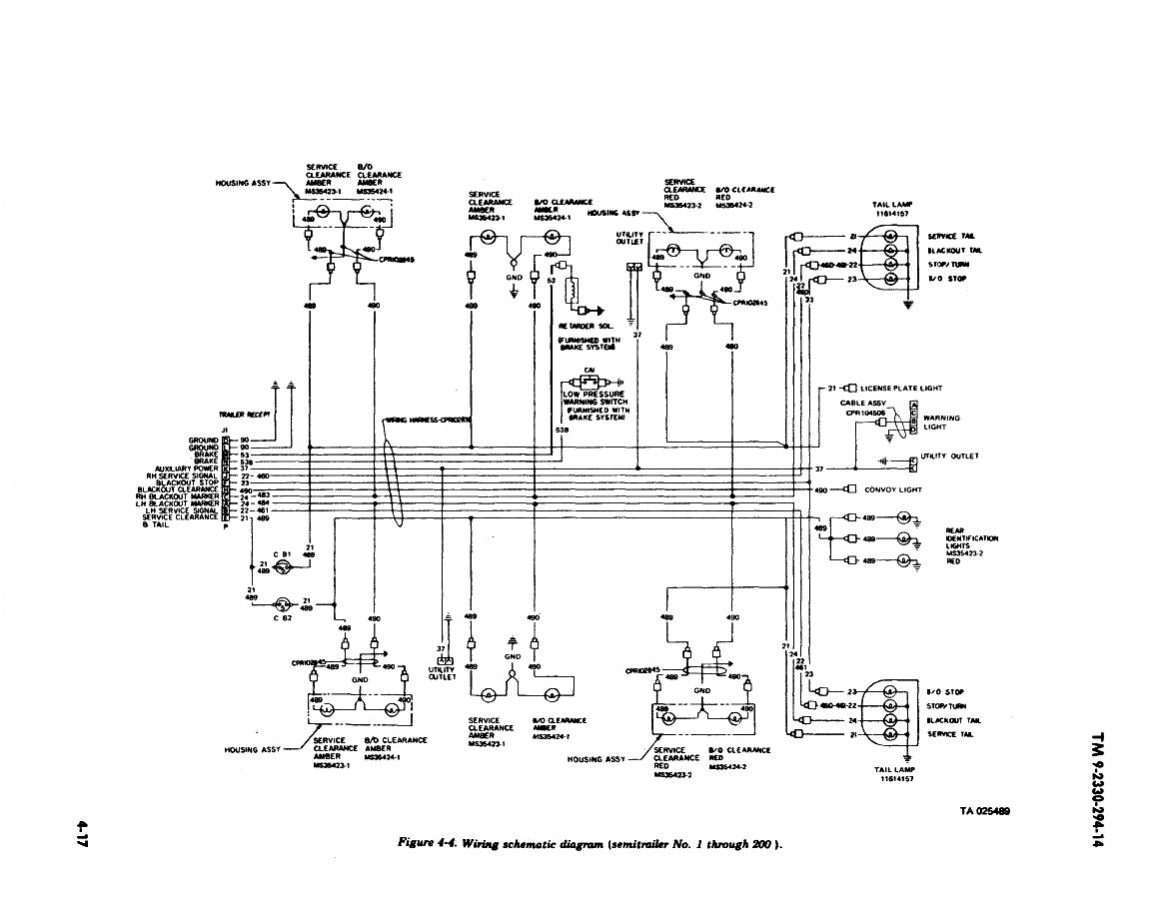 7-Way Semi Trailer Wiring Diagram | Trailer Wiring Diagram
