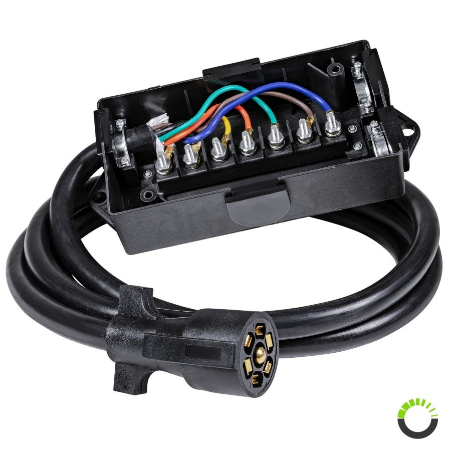 Trailer Junction Box With Cable | Trailer Wiring Accessories - Trailer Wiring Junction Box Diagram