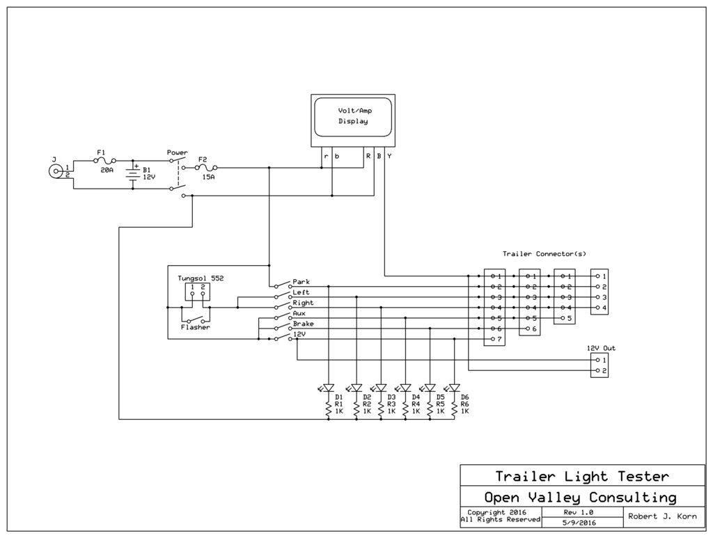 Trailer Light Tester: 8 Steps (With Pictures) - Trailer Lighting Board Wiring Diagram
