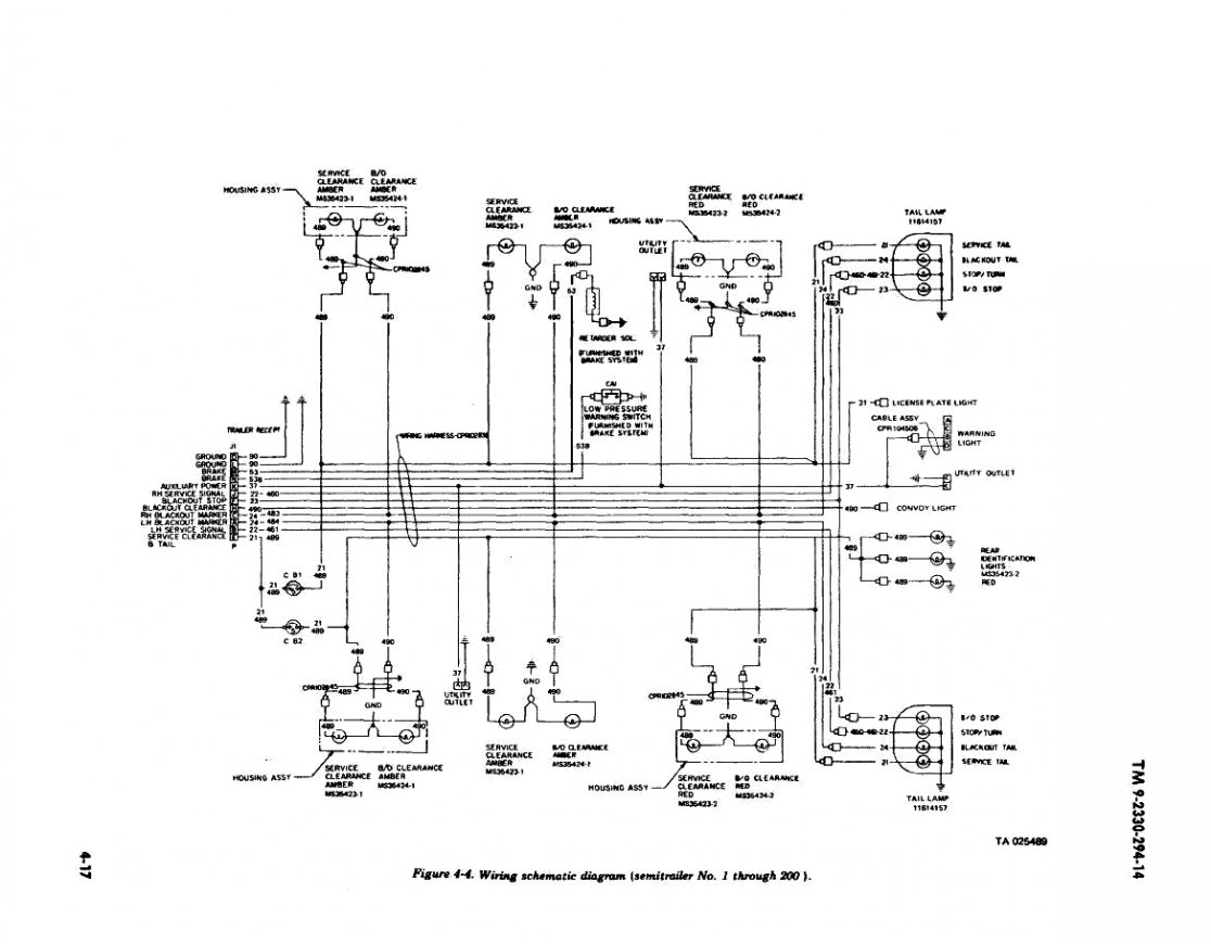 Trailer Wiring Diagram On 7 Pin Connector Wiring Diagram Tractor - 7 Post Trailer Wiring Diagram