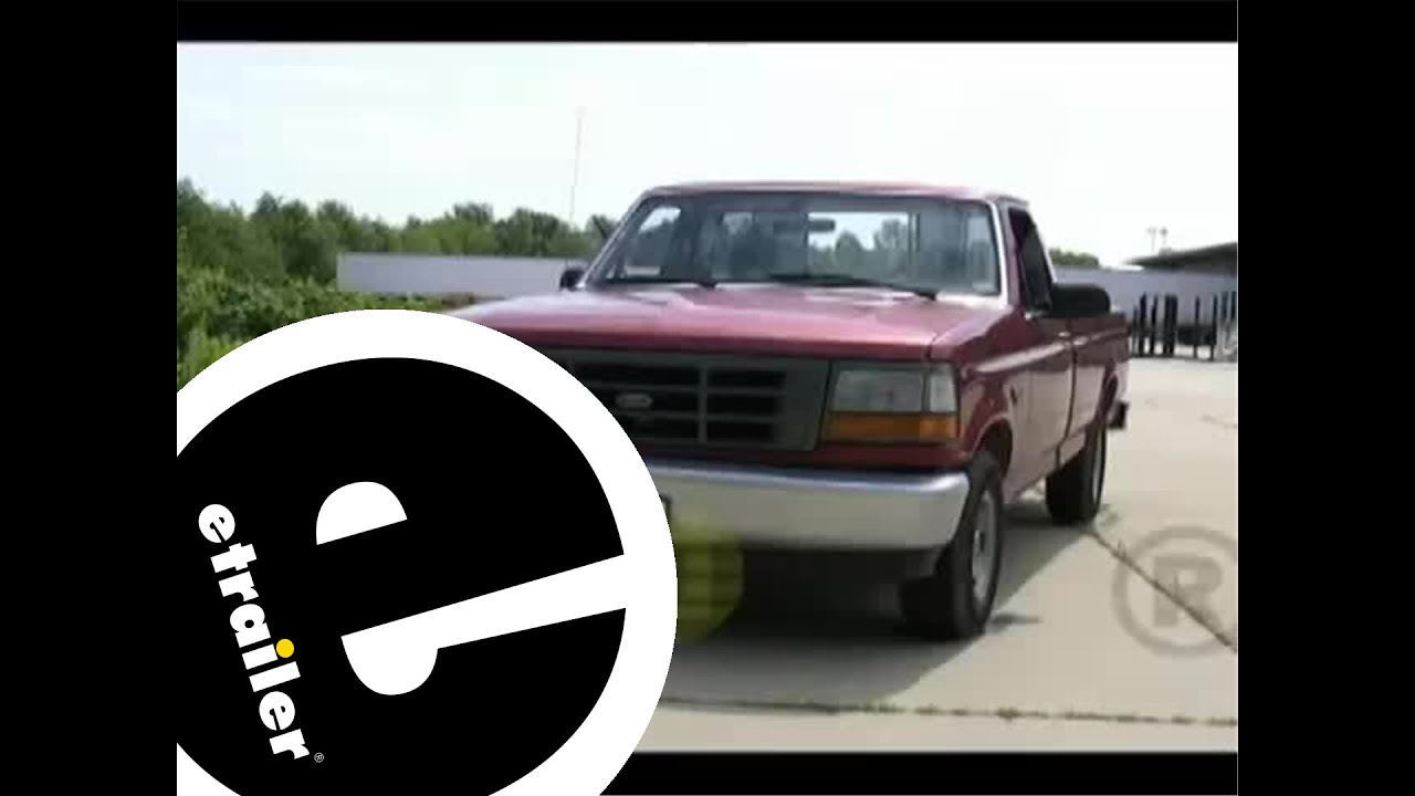 Trailer Wiring Harness Installation - 1994 Ford F150 - Etrailer - Ford F 150 Trailer Hitch Wiring Diagram