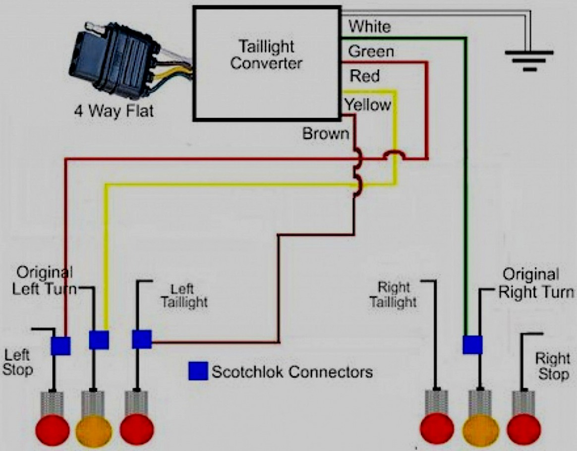 Trend 4 Way Flat Wiring Diagram For Electrical Library - Trailer Wiring Diagram 4 Way Flat