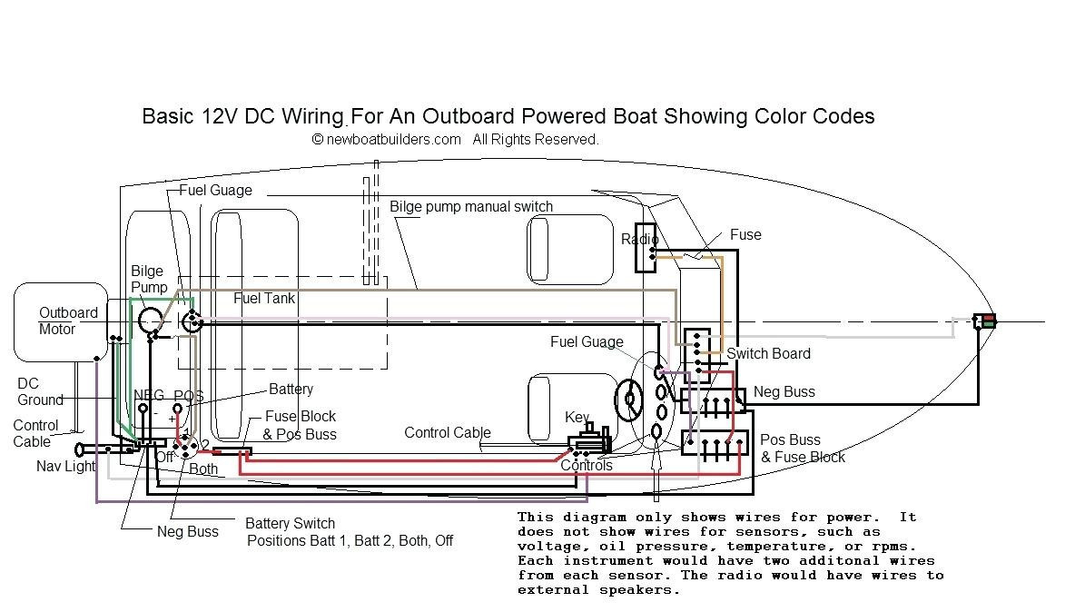 general boat wiring diagram