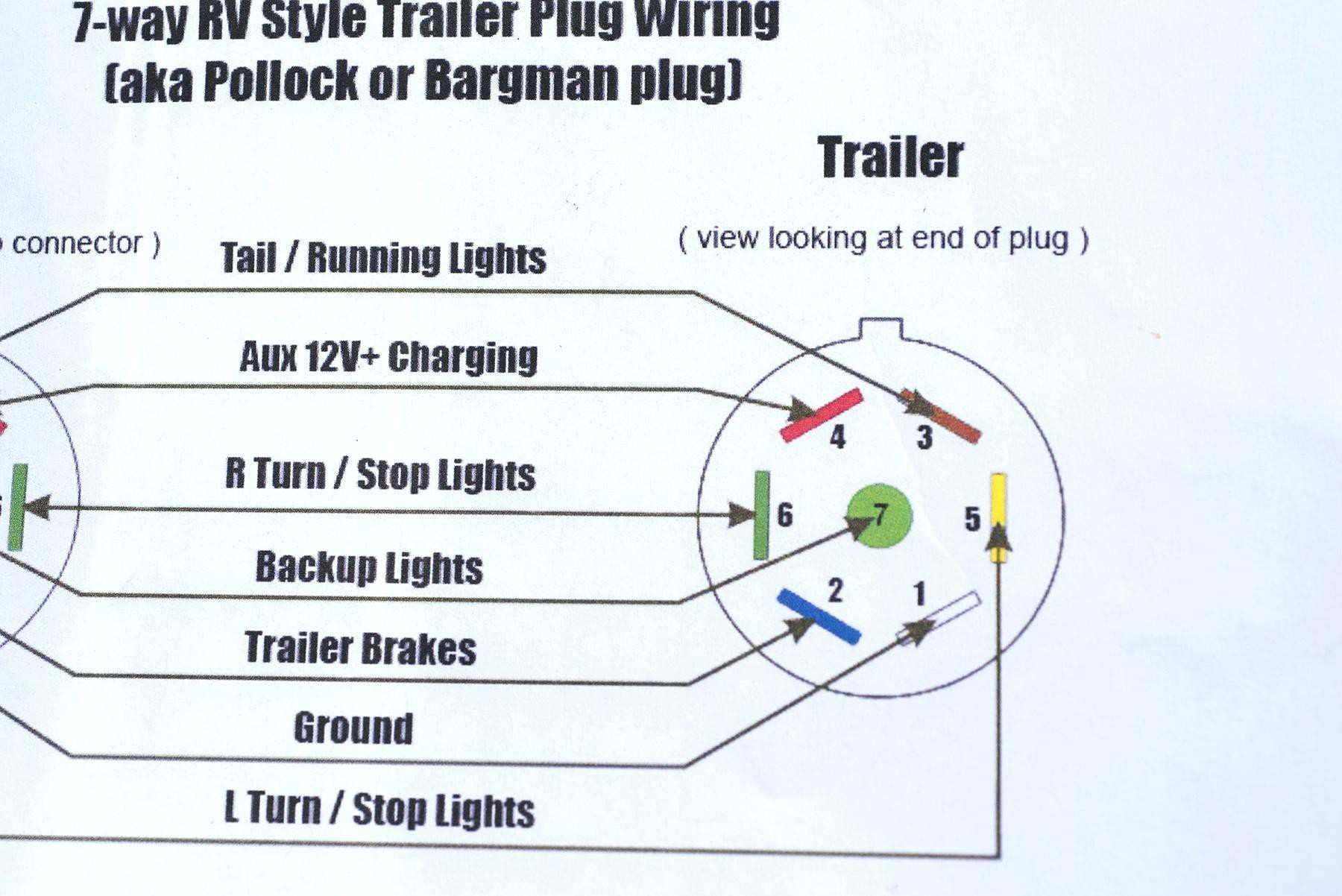 Universal 7 Wire Trailer Plug Wiring Diagram | Wiring Library - Trailer Brake Wiring Diagram 4 Pin
