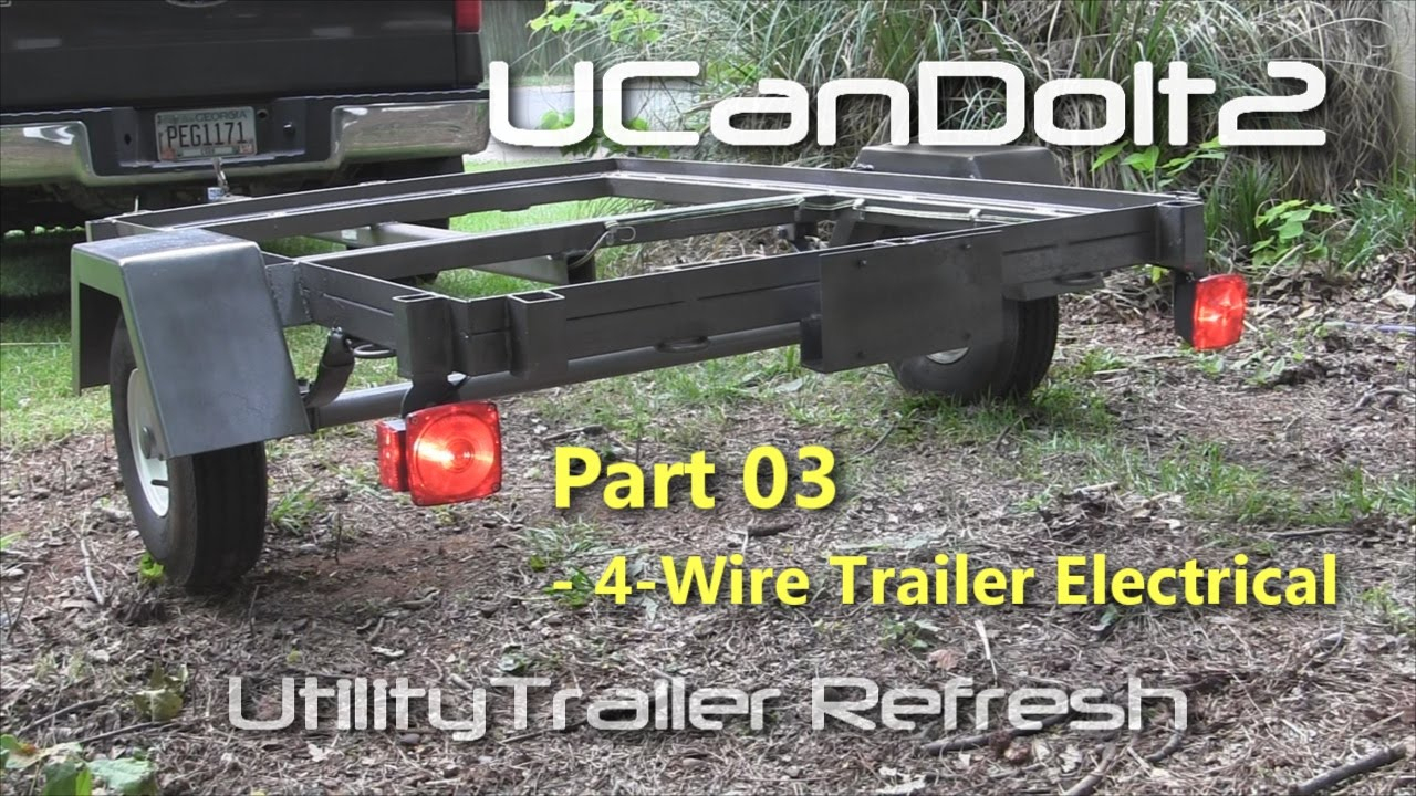 Utility Trailer 03 - 4 Pin Trailer Wiring And Diagram - Youtube - Trailer Wiring Diagram 4 Pin Flat