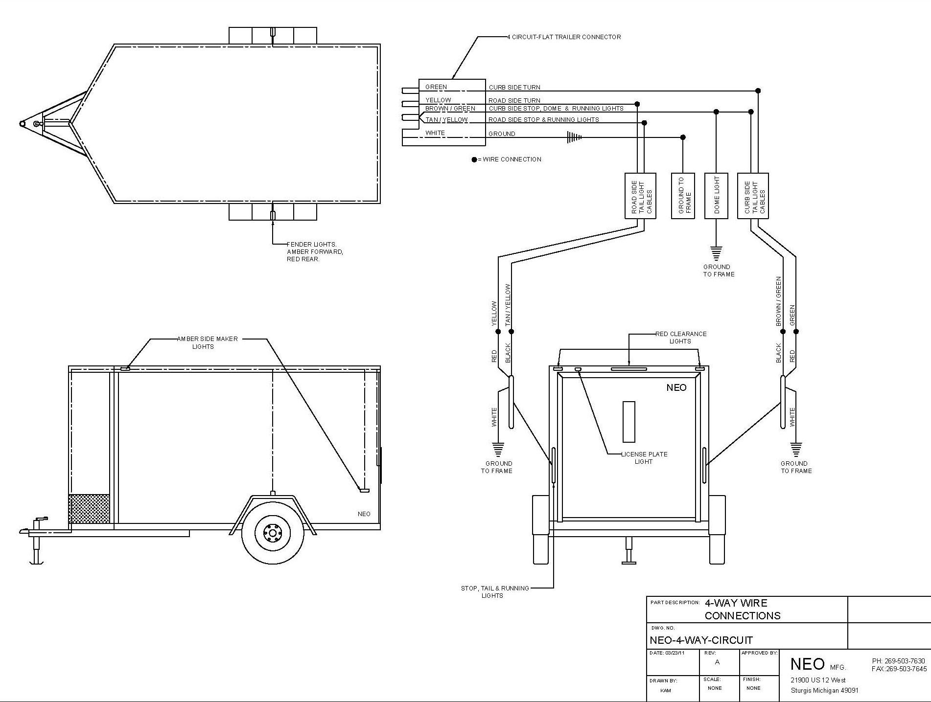 Utility Trailer Wiring Harness | Wiring Diagram - Enclosed Trailer Wiring Diagram