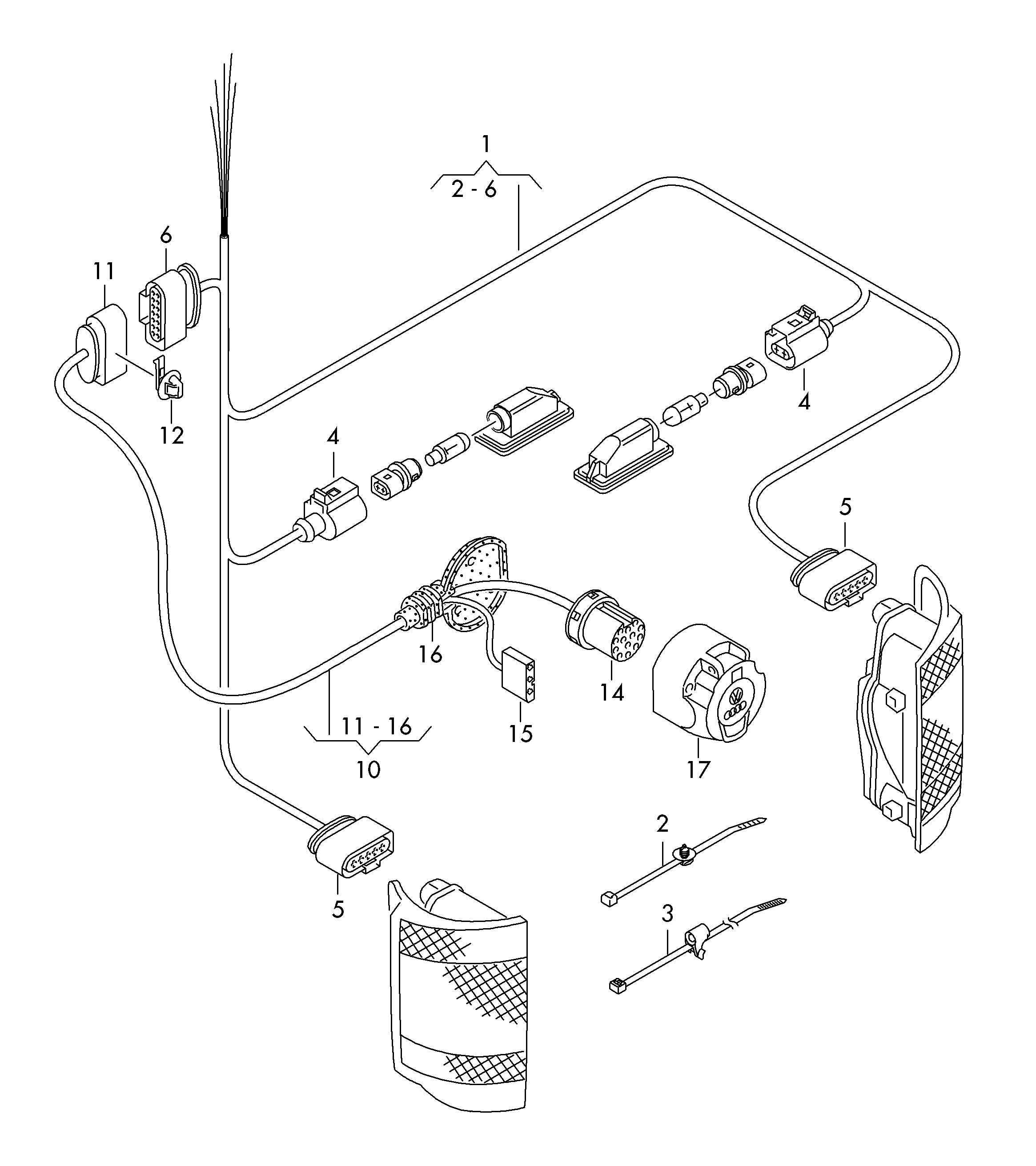 vw amarok trailer wiring diagram