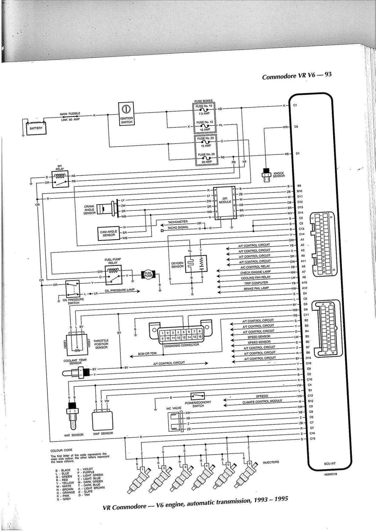 Vz Headlight Wiring Diagram | Manual E-Books - Vy Commodore Trailer Wiring Diagram