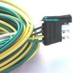 Wb 25 Wesbar® Wishbone Trailer Wiring Harness 4 Way Flat 18 Ga, 25   4 Way Flat Trailer Connector Wiring Diagram