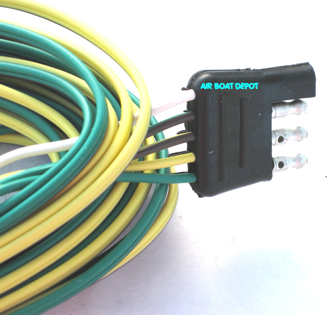 Wb-25 Wesbar® Wishbone Trailer Wiring Harness 4 Way-Flat 18 Ga, 25 - 4 Way Flat Trailer Connector Wiring Diagram
