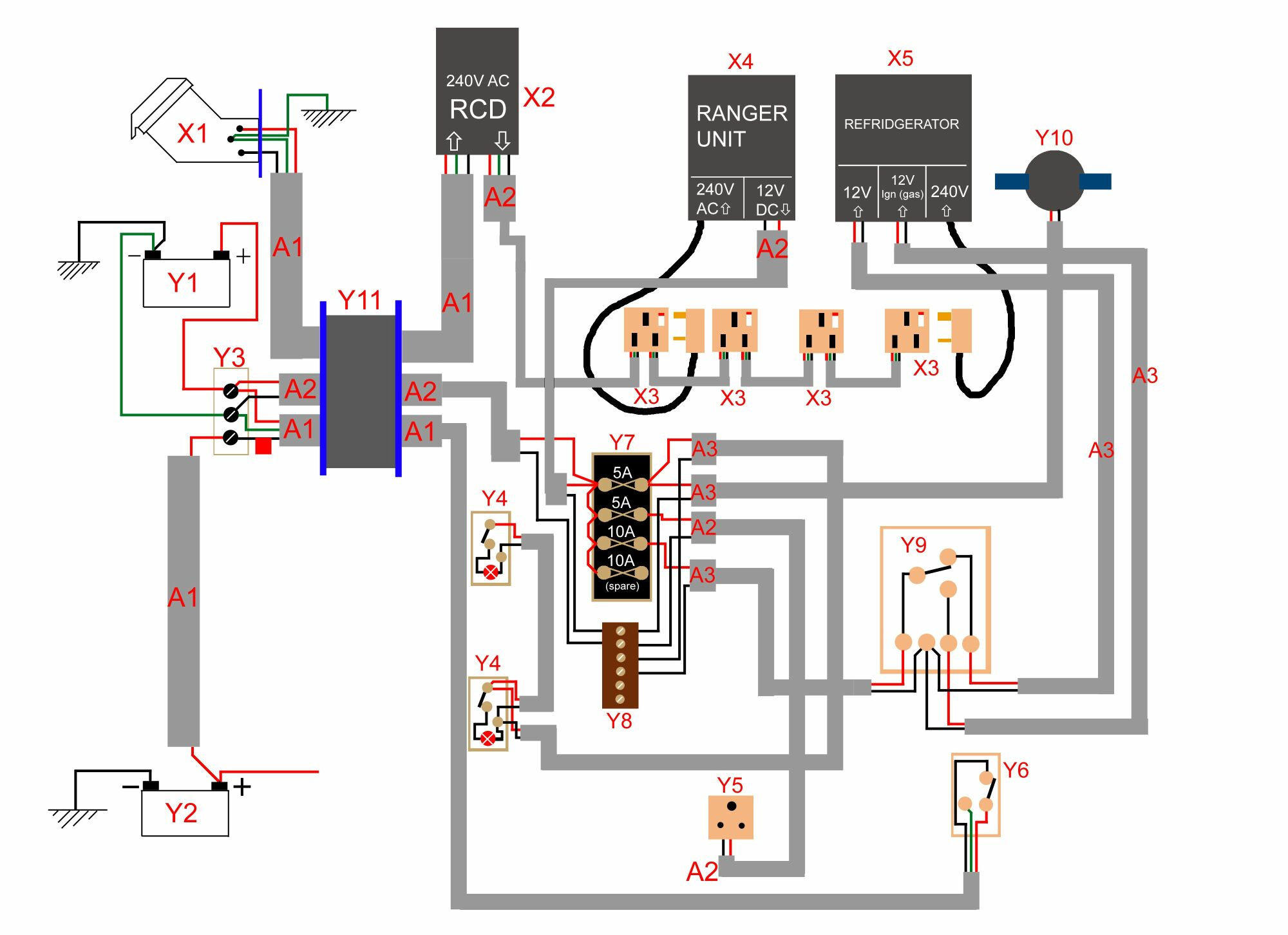 Wiring Diagram 12V | Wiring Diagram - Trailer Wiring Diagram 3 Way