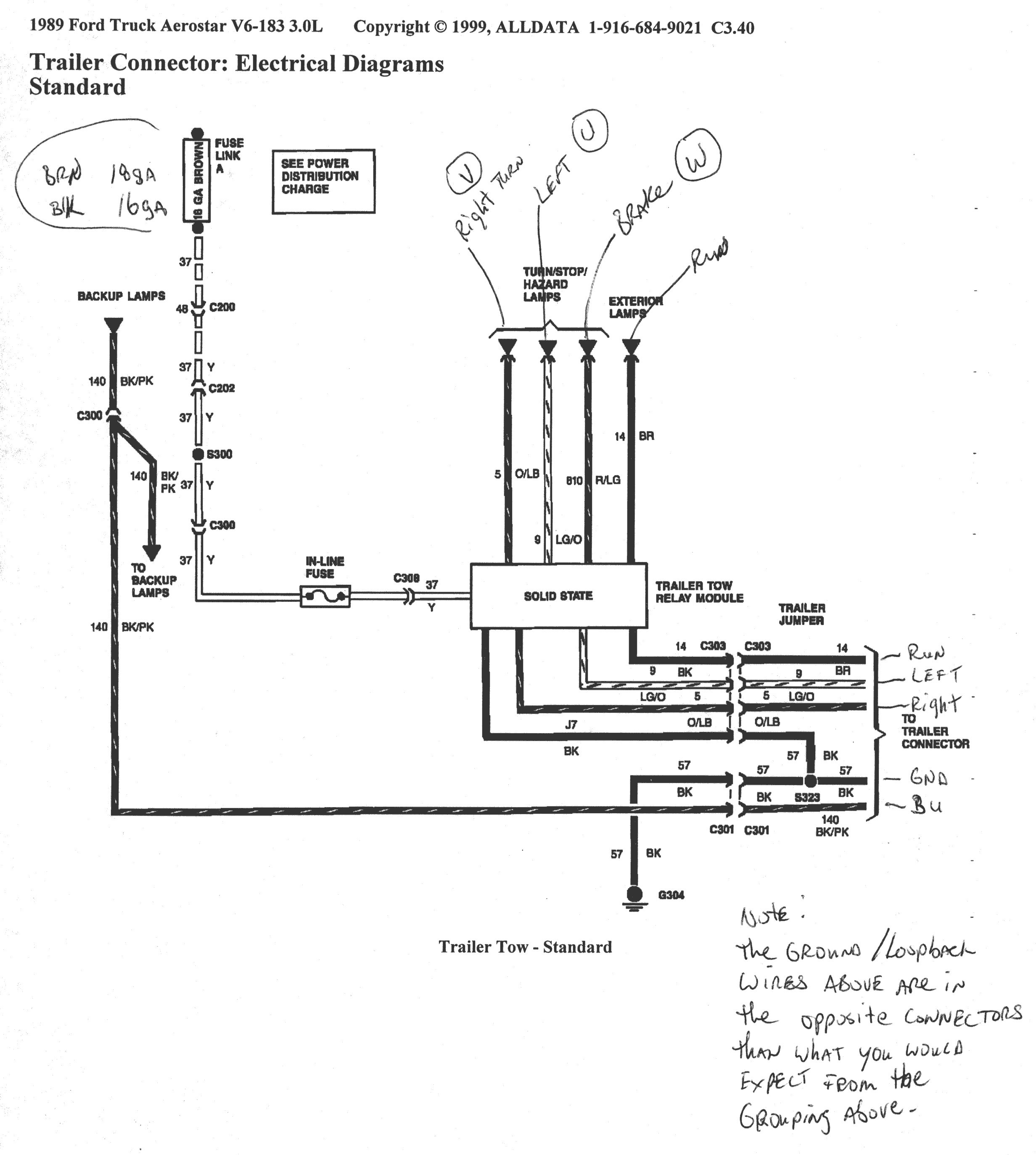 Wiring Diagram For Ford F150 Trailer Lights From Truck Simple 2000 - 2000 Ford F150 Trailer Wiring Diagram