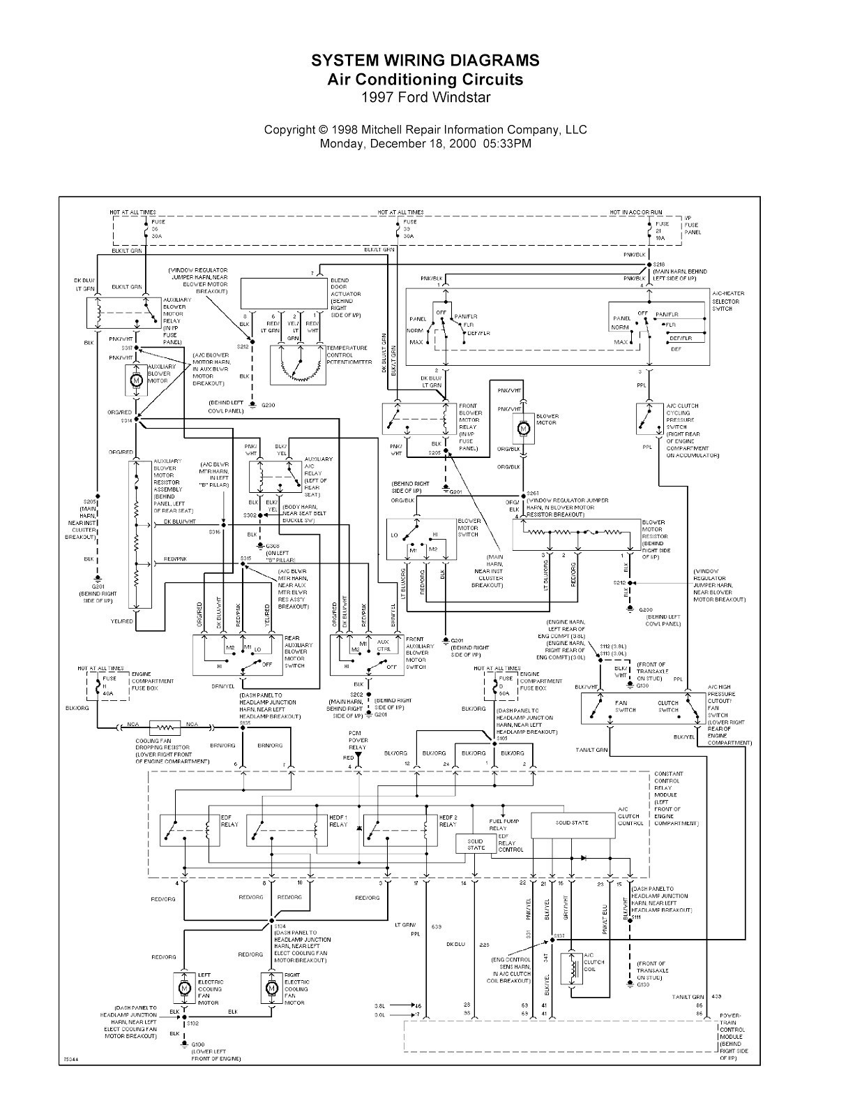 Wiring Diagram For Ford Windstar Transmission | Wiring Diagram - Ford Escape Trailer Wiring Diagram